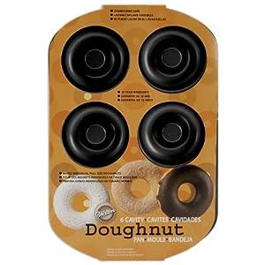 Amazon Com Wilton Nonstick 6 Cavity Donut Pan Novelty