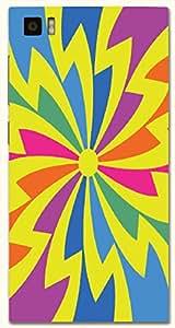 Attractive multicolor printed protective REBEL mobile back cover for Xiaomi Mi 3 D.No.N-T-1814-XM3