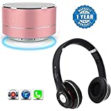 Captcha Meizu Pro 5 Compatible Certified P10 Wireless Portable Bluetooth Speaker With Mic With S460 Universal Sports Wireless Bluetooth Headphone (One Year Warranty)