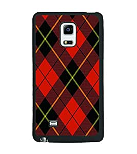 PRINTSWAG RED SQUARES PATTERN Designer Back Cover Case for SAMSUNG GALAXY NOTE EDGE