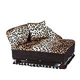 Mini Chaise Leopard Pet Bed