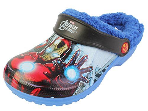 Marvel Boy's Agengers Asemble Winter Warm Clog Mule Shoes Size US 13