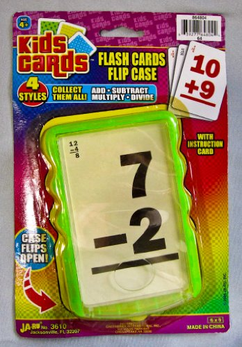 Kids Cards Flash Card Flip Case Subtraction - 1