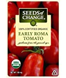 Seeds of Change Certified Organic Tomato, Early Roma - 100 milligrams, 50 Seeds Pack