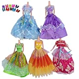 Toy - Youpin Assorted 5 Sets Assorted Handmade Barbie Clothes, 5 Pcs Fashion Wedding Gown Dresses Clothes 10 Shoes For Barbie Doll Accessories Party