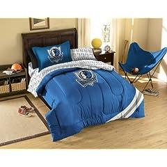 NBA Dallas Mavericks 5-Piece Twin Size Bed Set - Royal Blue by Northwest