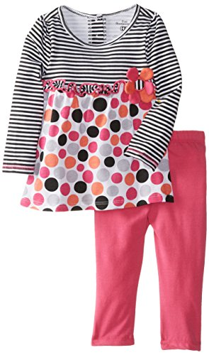 Kids Headquarters Baby-Girls Infant 2 Pieces Tunic And Legging With Stripes, Multi, 24 Months front-741906