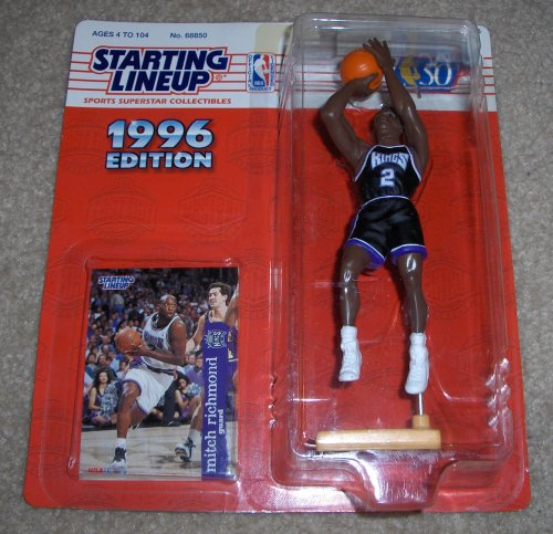 Mitch Richmond Action Figure - 1996 Edition Starting Lineup Sports NBA Superstar Collectible with Collector's Card