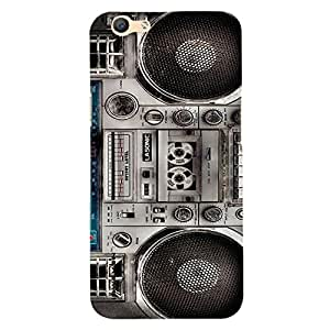 iSweven printed OppoF1s_3288 Big Musicsystem Design Multicolored Matte finish Back case cover for Oppo F1s