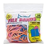 Alliance Brites File Bands (7 x 1/8 Inches) in Three Brite Colors - 50 Bands in a Resealable Bag - Made in the U.S.A.