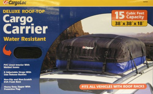 Cargoloc 32424 15-Cubic/Feet Deluxe Roof Top Waterproof Cargo Carrier