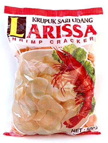 LARISSA ラリッサ Krupuk Sari Udang クルプック サリ ウダン 500g インドネシア料理 ナシゴレン ミーゴレン [並行輸入品][海外直送品]