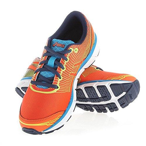 Asics - GELLYTE33 3 - C403N3242 - Colore: Arancione-Azzuro-Blu marino - Taglia: 39.5