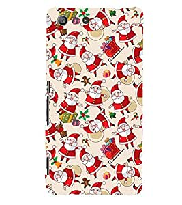 Printvisa Assorted Santa Clause Pattern Back Case Cover for Sony Xperia M5 Dual E5633 E5643 E5663:: Sony Xperia M5 E5603 E5606 E5653