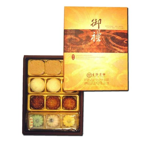 Sheng Kee 12pc Combo Gift Box(P)- 3sm-Moon Cake(Date/Lotus/Red