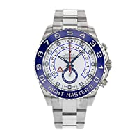 Rolex Yacht Master II White Dial Blue Bezel Stainless Steel Automatic Mens Watch 116680WAO by Rolex