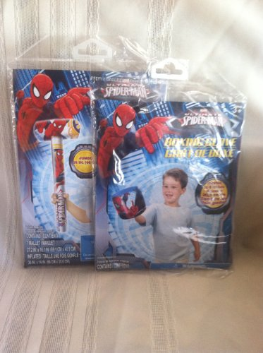 Spiderman Inflatable Boxing Gloves and Mallet - 1