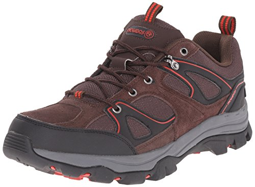 Nevados Men's Talus Low Hiking Shoe, Dark Chestnut/Red Spice/Black, 10.5 M US
