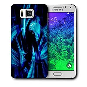 Snoogg Abstract Blue Smoke Printed Protective Phone Back Case Cover For Samsung Galaxy SAMSUNG GALAXY ALPHA