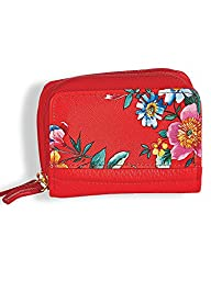 Fall Flower Pik-Me-Up Wizard Wallet-Red