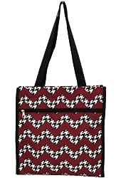 Houndstooth Chevron Print Beach/shopping Tote Bag