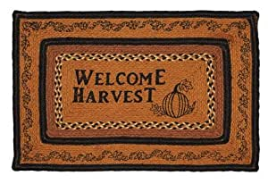 """Harvest Time Fall Jute Braided Rug w/ Welcome Fall Stenciled 20""""x30"""""""