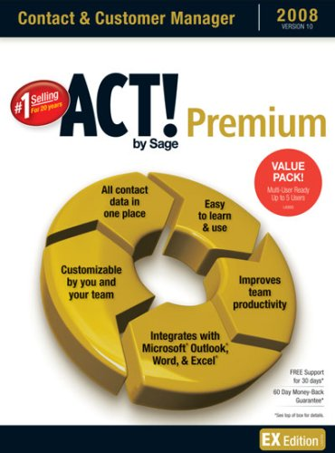 Act! By Sage Premium 2008 10.0 Multi-Pack