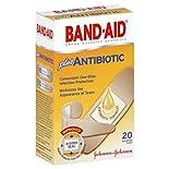 Band Aid Adhesive Bandages, Plus Antibiotic, Assorted Sizes, 20 bandages