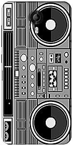 Snoogg Casette Tape Designer Protective Back Case Cover For Micromax Canvas Nitro 3 E455