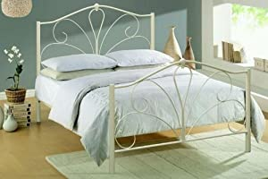 4FT6 DOUBLE IN IVORY METAL BED FRAME NEW STOCK JUST ARRIVED WEB OFFER       Customer reviews and more news