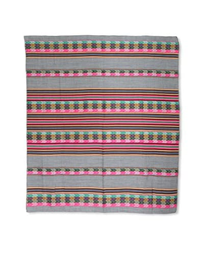 Uptown Down Found Peruvian Woven Throw, Grey/Multi As You See