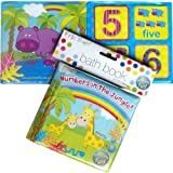 Baby Boys Girls Bathtime Fun Counting Bath Book Numbers In The Jungle