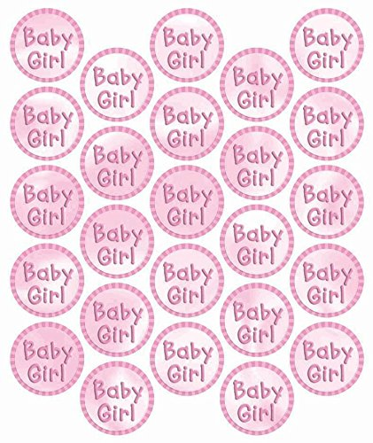 Baby Girl Metallic Sticker Seals - 25ct