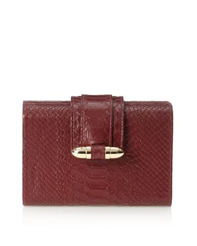 CC Skye Women's Bullet Hard Clutch, Burgundy Python As You See
