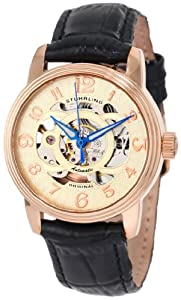 Stuhrling Original Women's 107EL.114531 Classic Delphi Rose-Tone Automatic Skeleton Watch