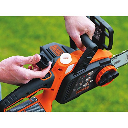 BLACK+DECKER LCS1020 20V Max Lithium Ion Chainsaw, 10-Inch