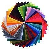 カラー フェルト 大 判 生地 手芸 用 40 色 セット (40色 30×30cm 1セット)
