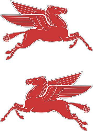 2-x-mobil-pegasus-decal-racing-car-stickers-classic-vintage