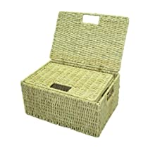 Rectangular Storage Basket with Lid - Set of 2