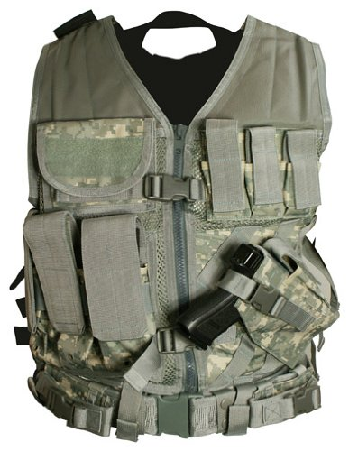 Vism By Ncstar Tactical Vest/Digital Camo Acu ,Adjustable Small/Medium (Ctv2916D)