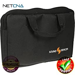 CS-MAN Utility Case - for Various Sound Devices Recorders, Mixers and Pre-Amps With Free 3 Feet NETCNA HDMI Cable - BY NETCNA