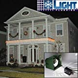 Light Flurries Magical Falling White Snowflakes Christmas Light Projector