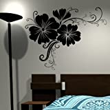 Giant Floral - Wall Transfer / Removable Vinyl Decal / Flower Wall Sticker F50