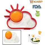 KARP™ Sun Shape Silicone Fried Egg Mold Pancake Rings, Non Stick Bakeware Accessories Kitchen Tools,BPA Free,...