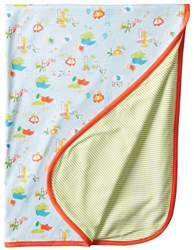 Zutano Unisex-Baby Newborn Juba Blanket, Sky, One Size - 1