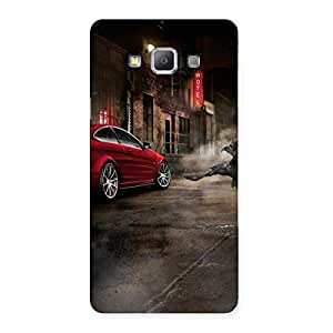 Stylish Red Car Impact Multicolor Back Case Cover for Galaxy A7