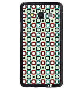 Printvisa Green And Blue Square Pattern Back Case Cover for Samsung Galaxy E5::Samsung Galaxy E5 E500F