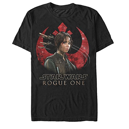 Star Wars Rogue One Jyn Republic Alliance Crest Mens Graphic T-Shirt