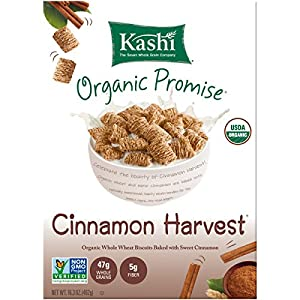 Kashi Organic Promise Cereal, Cinnamon Harvest, 16.3-Ounce Boxes (Pack of 4)