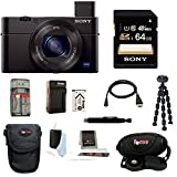 Sony DSC-RX100M III DSC-RX100M3 RX100M3 DSCRX100MIII RX100MIII Cyber-shot Digital Still Camera with Sony 64GB SDHC Class 10 Memory Card + Additional Focus NPBX1 battery and charger+ Focus Camera Case + Focus Accessory kit
